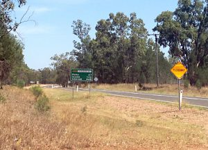 On the road to Bruce's place