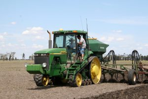 Gordo films Rob in the tractor