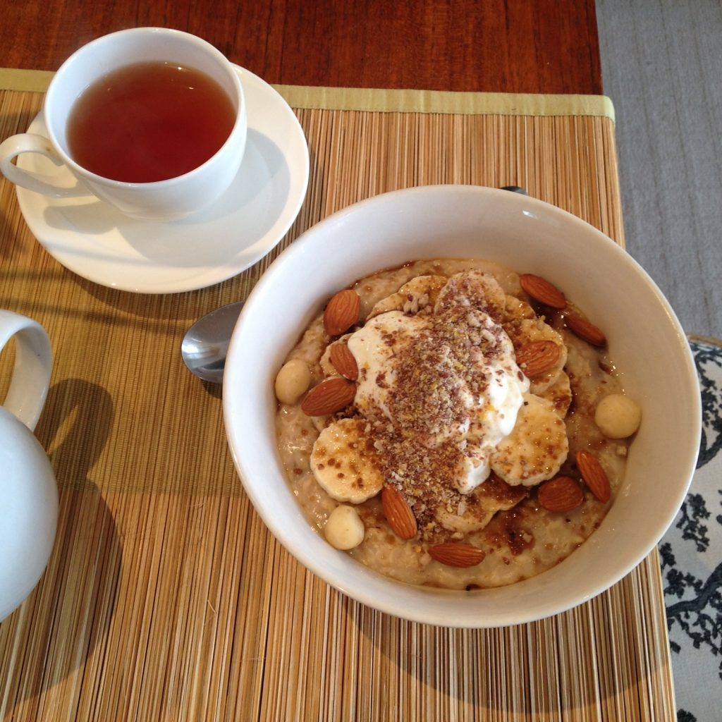 A bowl of oats makes a healthy and delicious breakfast
