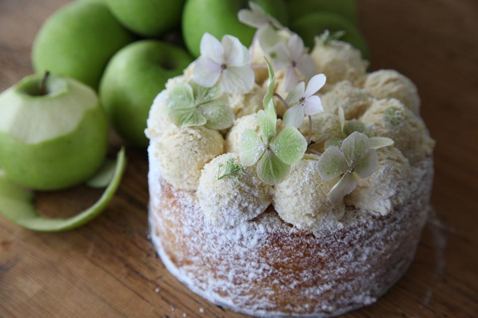 Apple cake by Gillian Bell