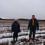 In the oat field in February
