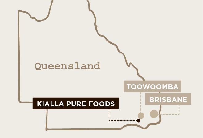 Kialla Pure Foods Map