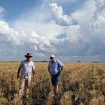 Pete and Geoff in the wheat field