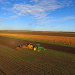 ドローンから撮影―5月・小麦の作付け