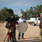 The crew filming Talbot
