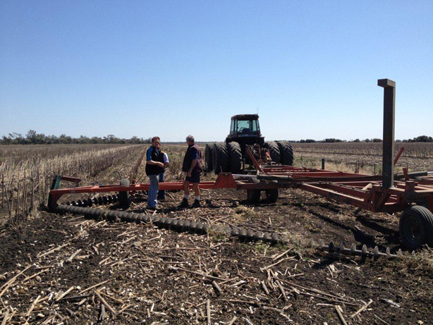 Mulching stubble into soil