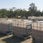 Bio fertiliser is prepared in the tanks and ready to use