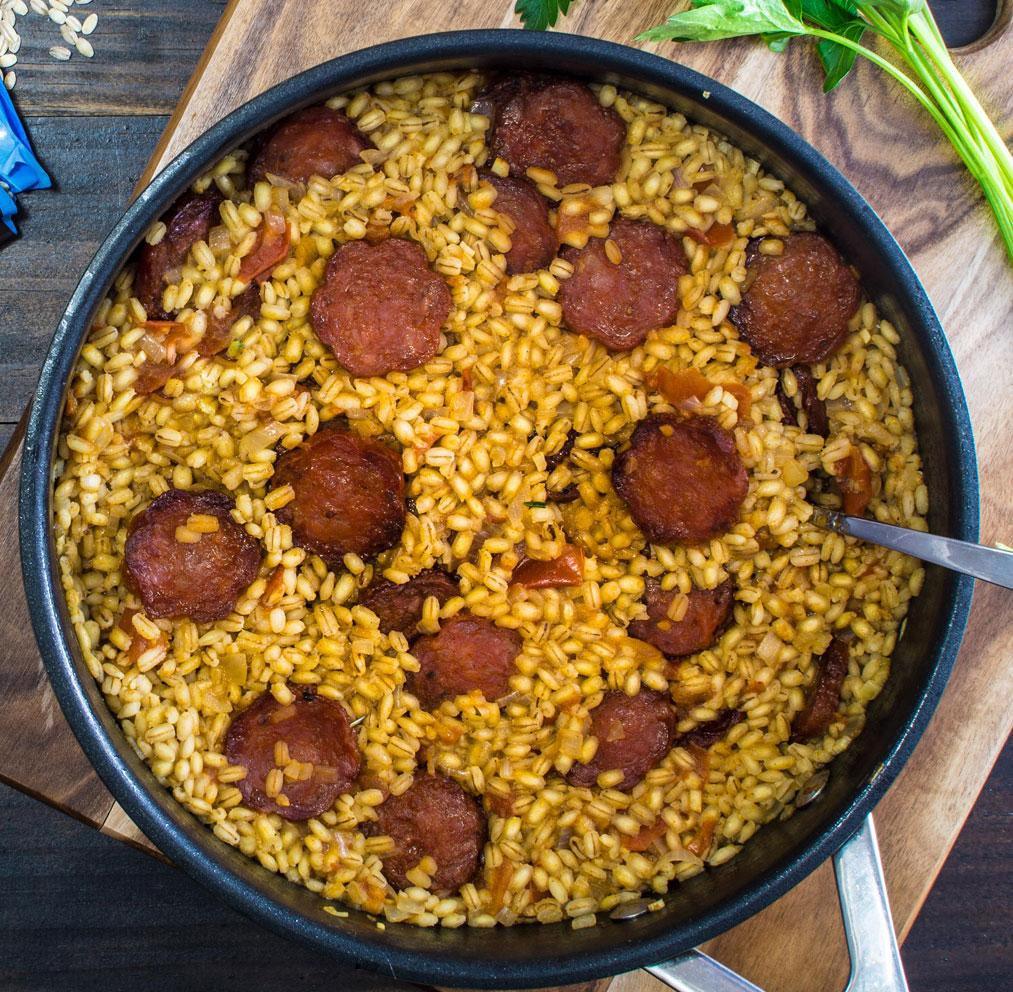 Pearl Barley Chorizo Risotto