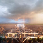 Rainbow in the paddock while seeding the crop