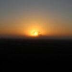 農場の日の出